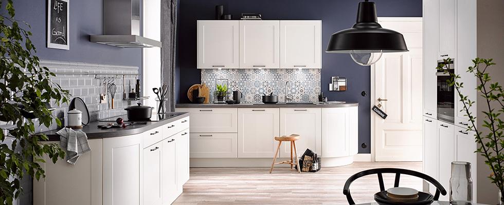 Küche mit schönen Fliesen