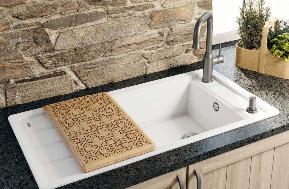 Blanco Faron XL 6 S in Silgranit PuraDur für Landhaus-Küchen