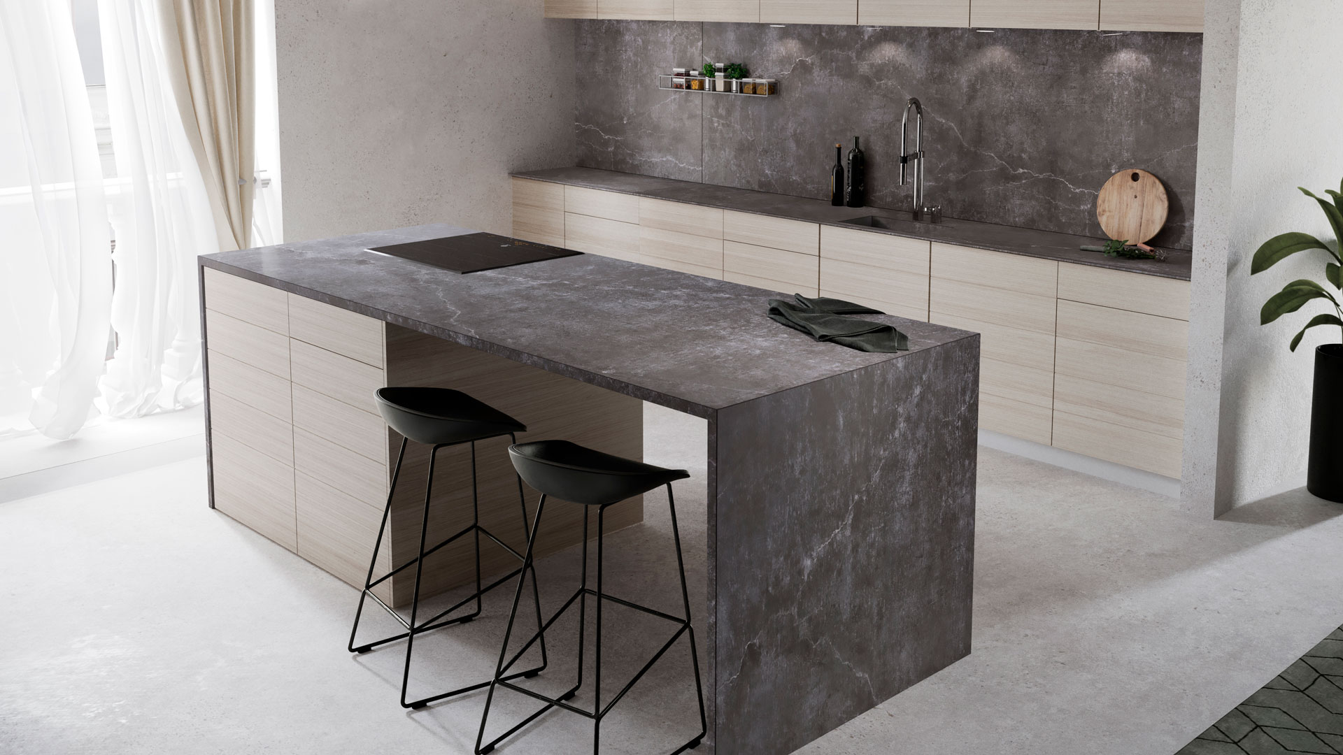 Küchenarbeitsplatten von Dekton bei Miele Center Bauer in Wien