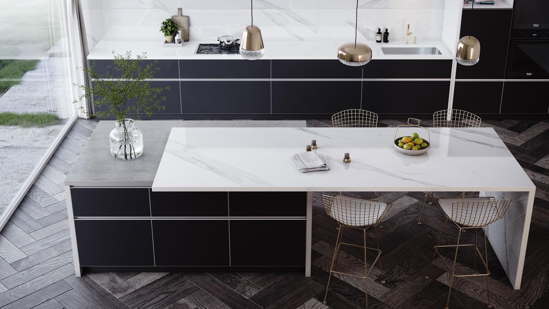 Dekton Oberfläche Kücheninsel bei Küchenwelt Bauer in Wien