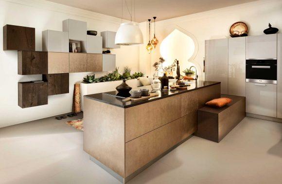 Küchenmodelle Küche Bronze und Kaschmir