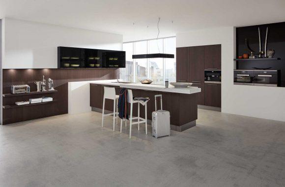 Küchenmodelle  Küche Wildeiche Mokka