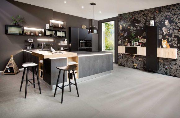 Küchenmodelle Küche Comet Graphit | Laser Soft Schwarz