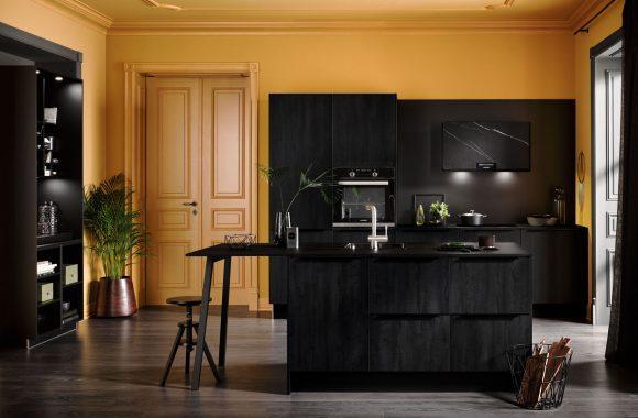 Küchenmodelle Küche mit dunklen Fronten
