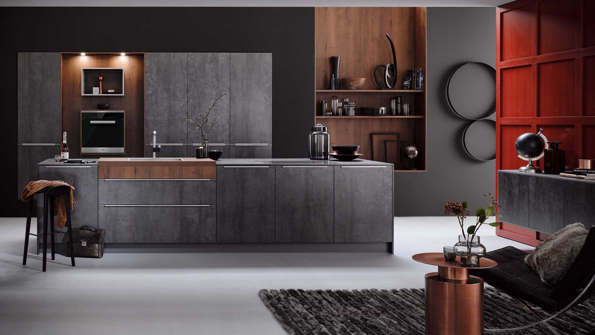 Häcker Designküche - Iron Grey | Miele Center Bauer Wien