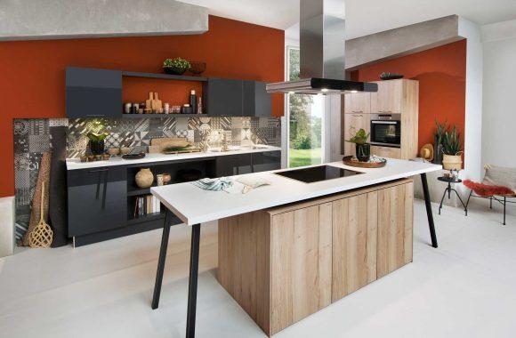 Küchenmodelle Moderne Küche Laser Brilliant Graphit | Toronto Alteiche Sand