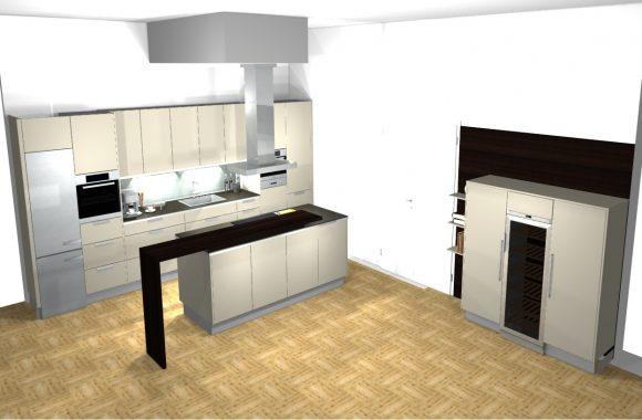 Küchenplanung 3D-Küchenplanung bei Küchenwelt Miele Center Bauer