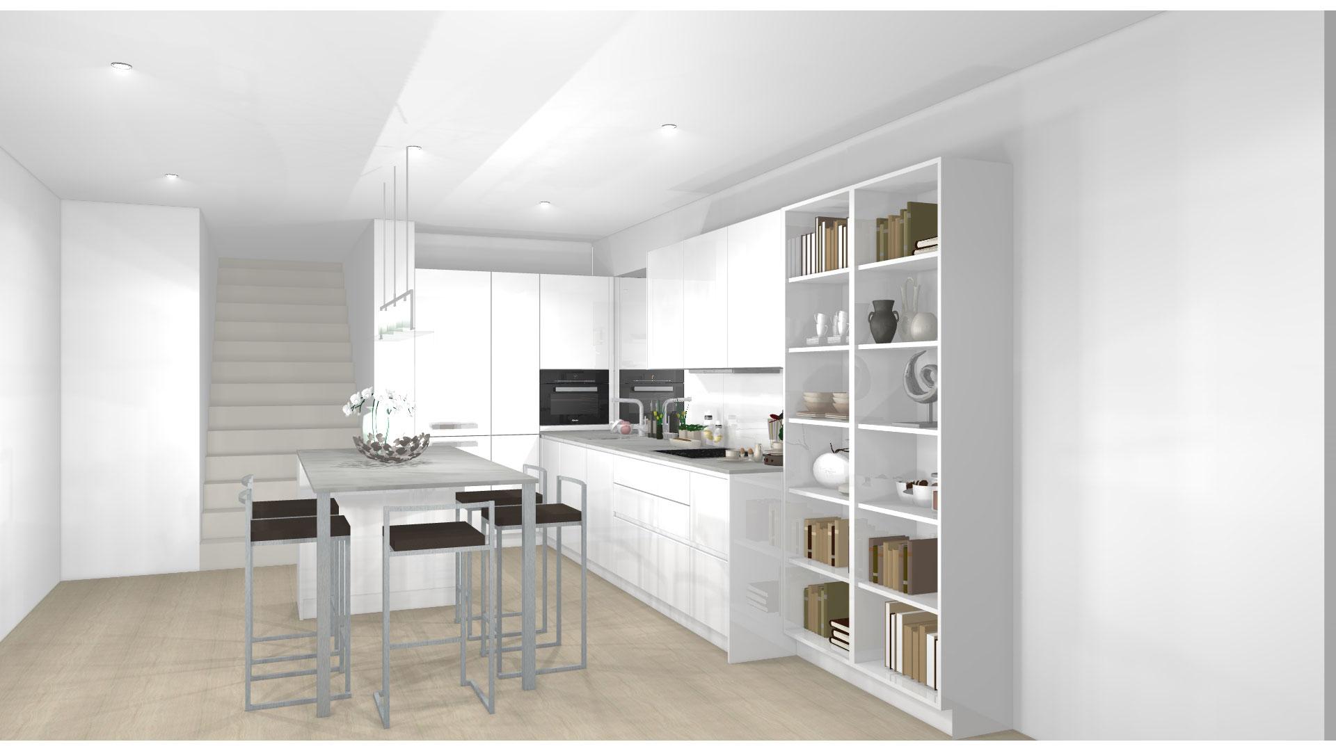 3D-Planung für die Traumküche von Miele Center Bauer Wien
