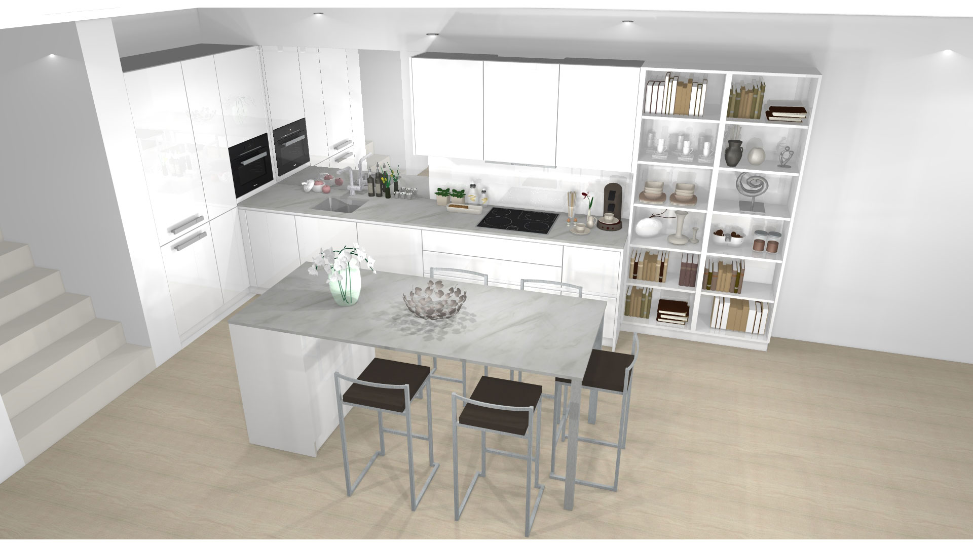 Küchenplanung - Ansicht von allen Seiten von Küchenwelt Bauer in Wien