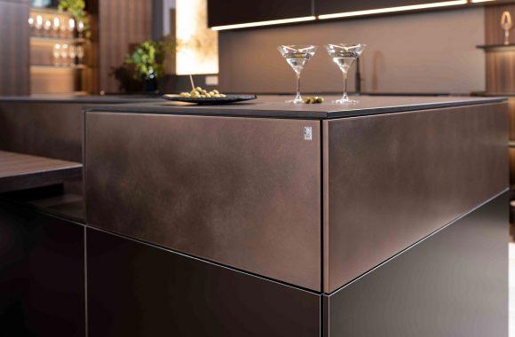 Warendorf Design Kücheninsel - Raucheiche | Kupfer