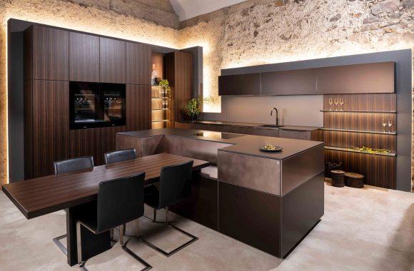 Warendorf Elegante Designküche - Raucheiche | Kupfer