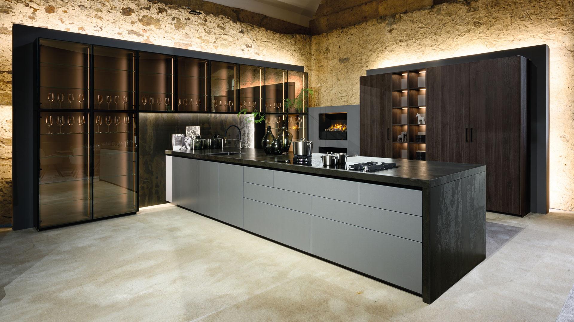 Warendorf Designküche - Eiche Anthrazit | Miele Center Bauer Wien