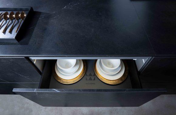 Warendorf Design Kücheninsel - Stein Keramik Schwarz