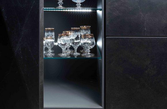 Warendorf Design Unterschrank - Stein Keramik Schwarz